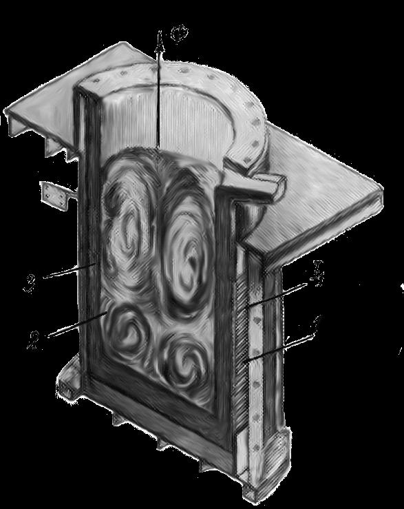 Схема устройства индукционной тигельной печи