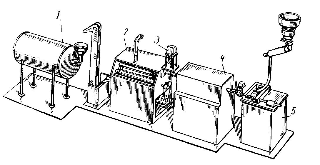 Термическая обработка роликов, схема установки для термообработки роликов
